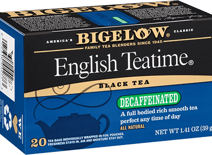 Buy Bigelow English Tea Time Decaf from Tidewater Coffee