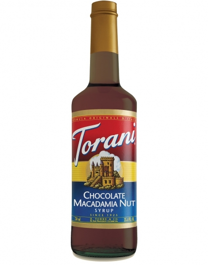 Buy Torani Chocolate Macadamia Nut Syrup from Tidewater Coffee